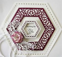 PartiCraft (Participate In Craft): Search results for Hexagon Sue Wilson, Hexagon Cards, Tattered Lace Cards, Spellbinders Cards, Blank Cards, Anniversary Cards, Making Ideas, Your Cards, Wedding Cards