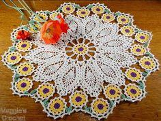 sunflowers crochet | Crochet Pattern Central – Free Doily Crochet Pattern Link Directory