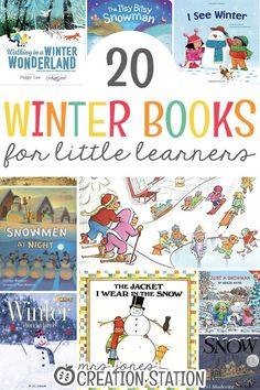 It's cold and snow is on the ground! That means winter is officially here. Take a look at these fun winter books and grab them for your library! Winter Activities For Kids, Winter Crafts For Kids, Winter Kids, Preschool Winter, Preschool Lesson Plans, Preschool Activities, Preschool Kindergarten, Montessori Elementary, Preschool Books