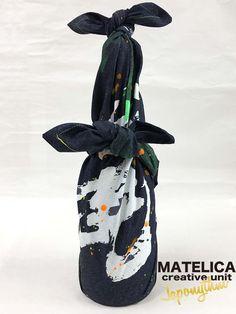 【Japonythm】デニム風呂敷 70cm ko・to・da・ma 「麗」 #和モダン #書 #言霊 #デザイン #Japonythm #MATELICA  #calligraphy #風呂敷 #アート #Japan #Tokyo #furoshiki #Japonism