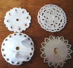 Mother of Pearl Sewing Bobbins