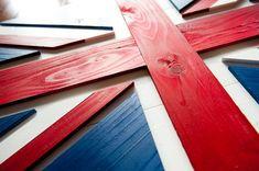 Union Jack Wood Flag UK Wooden Flag UK Flag Union by PatriotWood