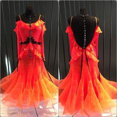 """Hot Flame"" ballroom dress by DLK United Design #ballroom #ballroomdress #dlk_united_design"