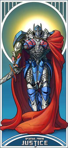 Optimus Prime (Age of Extinction) Justice - Tarrot Card
