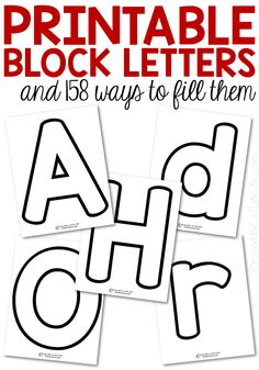 Make teaching your preschooler the letters of the alphabet fun and hands-on with these printable block letters! Both upper and lowercase letters included! Preschool Learning Activities, Preschool Lessons, Alphabet Activities, Alphabet Crafts, Teaching Resources, Alphabet Templates, Alphabet For Toddlers, Letter Templates Free, Spanish Activities
