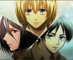 Mikasa, Armin y Eren