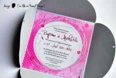 Faire-part de baptême sur-mesure coccinelle pour fille #rose #argente #bapteme #coccinelle #petitpois #graphique www.lafilleaunoeudrouge.fr La fille au Noeud Rouge - faire-part personnalisé mariage, naissance, baptême et anniversaire
