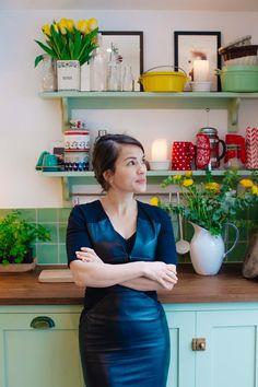 Rachel Khoo dreaming of Japan Chef Rachel Khoo, Wall Shelf Unit, House Shelves, Living Room Accessories, London Apartment, Kitchen Sets, Wall Storage, Art Of Living, Home Art