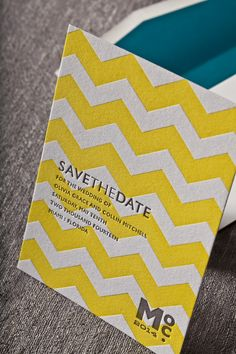 CABANA   Umi 2, Letterpress Save The Date   Elum Designs, Letterpress Stationery, Invitations & Curator of Designer Paper Goods. Nothing short of small works of art. Yellow and gray wedding. Inspired by Mid-Century and Hollywood Regency textures and patterns, playfully modern, sunny poolside oasis, bold simplicity