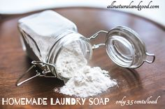Homemade Laundry Soap Only 3.5 Cents Per Load - All Natural & Good