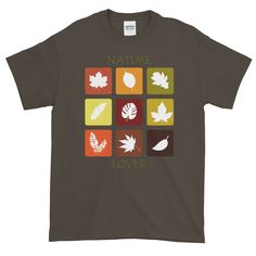 Nature Lover's Short-Sleeve T-Shirt. This t-shirt makes for a great staple! Gifts For Nature Lovers, Custom T, Graphic Shirts, Mens Tops, T Shirt, Tee, Tee Shirt