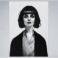 Mrs Mia Wallace Art Print by Ruben Ireland - pulp-fiction Fan Art Mia Wallace, Art And Illustration, Pulp Fiction, Mode Collage, Ohh Deer, Art Mural, Art Graphique, Art Design, Graphic