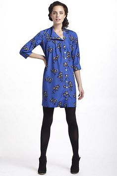 Graphic Begonia Shirt Dress #anthropologie--this has so many options!..belted,tank underneath,...