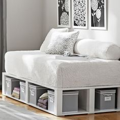 Loungeabout Daybed Full Length Bolster, Sherpa Ivory