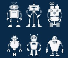 Robot vector by ssstocker on @creativemarket