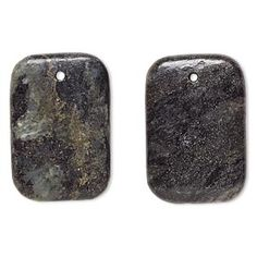 Focal, green serpentine (natural), dark, 24x23mm-33x23mm flat rounded rectangle, C- grade, Mohs hardness 2-1/2 to 6. Sold per pkg of 2.