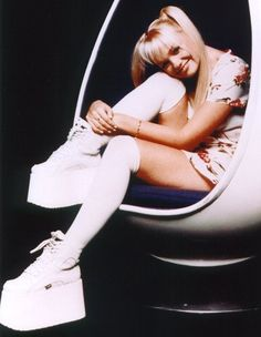 I actually had a pair of shoes like this in the 90s.  I still have them. lol
