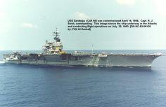 Forrestal Class USS Saratoga (CV-60) in 1993