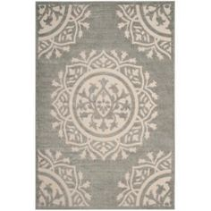 Safavieh Cottage Gray/Cream 4 ft. x 6 ft. Indoor/Outdoor Area Rug COT930R-4 at The Home Depot - Mobile