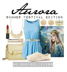 Aurora by disneybelieverr on Polyvore featuring Glamorous, H&M, Knights and Roses, Carolina Bucci, Jane Norman, Kate Bissett, MICHAEL Michael Kors, Dolce&Gabbana and MAC Cosmetics