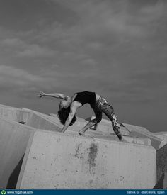 """#Yoga Poses Around the World: """"Wild Thing taken in Barcelona, Spain by Sattva G."""""""