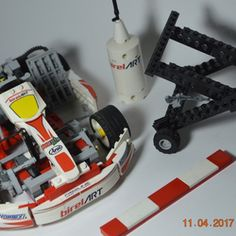 This is a Birel ART kz2 engine go kart replica. This MOC has many features, the car does steers, it has removable parts, and many other things. The model includes a Kart Trolley, a fuel tank, a racing kerb and the Go Kart. It is an easy set, it is so realistic and a great model for lego collectors and racing fans.