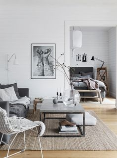 Home Design Ideas: Home Decorating Ideas Living Room Home Decorating Ideas Living Room modern small living room ideas Minimalism Interior, Small Living Rooms, Small Room Design, Small Living Room, House Interior, Small Modern Living Room, Interior Design, Living Decor, Scandinavian Design Living Room