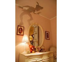 Saw this in a design store. It`s a wall decal of Peter Pan`s shadow! I thought it was super cute for the Peter Pan lovers out there =]  Me?...not so much. I`m