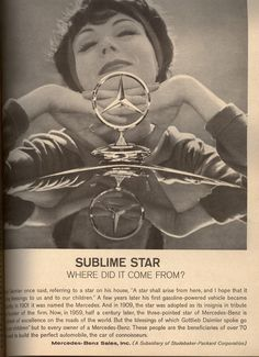 """One """"shining star"""" of a Mercedes-Benz ad from 1959."""