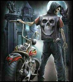 choppers and stuff Dark Fantasy Art, Dark Art, Moteurs Harley Davidson, Pinup, Arte Lowrider, Motorcycle Icon, David Mann Art, Fantasy Posters, Ghost Rider Marvel