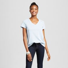 Women's Short Sleeve Relaxed V-Neck Tee