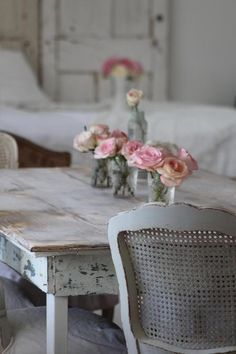 something about roses in little jars that's just so cute #shabby chic