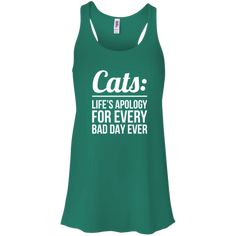 Cats Life's Apology - Ladies Flowy Tank. #rescue #cat #animal #pets #fashion #shopping #tank
