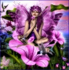 fairy pictures | Purple Nature Fairy - angels-and-fairies Photo