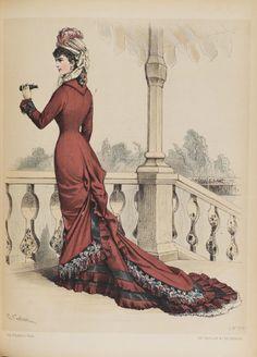 Revue de la Mode, Walkingdress, 1878