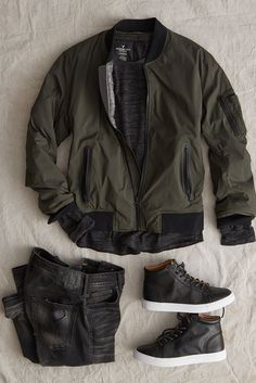 9b1882a25f3 A vintage-inspired silhouette made with the modern guy in mind. Bomber  Jacket Men