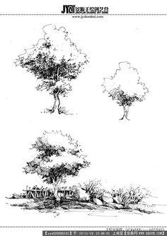 trees sketch #LandscapeDrawing #LandscapeSketch