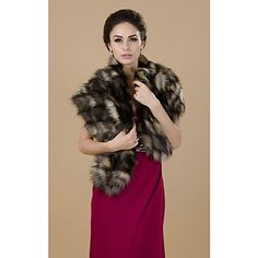 Gorgeous Half Sleeve Faux Fur Party/Casual Shawls – AUD $ 23.01