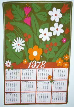 Calendar towels of the 70's