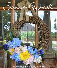 A Summer Wreath, Painted Kitchen Cabinets and the Wild West
