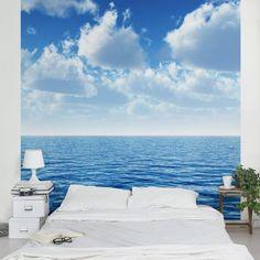 #Vliestapete - Shining #Ocean - Fototapete Quadrat #naturpur #nature #Tapete #Sonne #Landschaft #freedom #Natur #Abenteuer #Meer