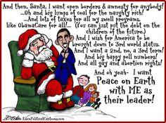 obama cartoon pictures | Obama's Santa List - Eden Political Cartoons