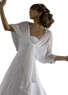 Braut Stola zum Brautkleid, aus Chiffon