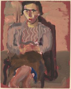 Mark Rothko : 'Untitled' (Seated Woman with Crossed Legs), 1935