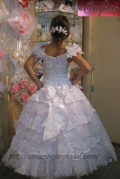 Amazing Dress 4 U - New 3PC White First Communion Dress gowns SZ 5 to12 B_00015, $269.70 (http://www.amazingdress4u.com/new-3pc-white-first-communion-dress-gowns-sz-5-to12-b_00015/)