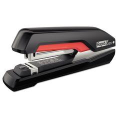 Supreme S17 Superflatclinch Full Strip Stapler, 30-Sheet Capacity, Black/red