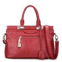 JSR Ladies' Handbag/Shoulder Bag - Red [170434-02] - $40.00