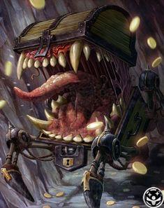 Legendary Mimic from Mobius Final Fantasy #art #illustration #artwork #gaming #videogames #gamer