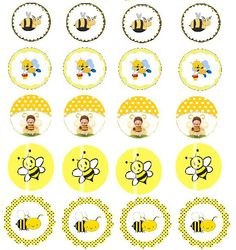 medaila Bee Crafts, Paper Crafts, Bee Images, School Clipart, Bee Party, Bottle Cap Images, Bee Theme, Bees Knees, Bee Keeping
