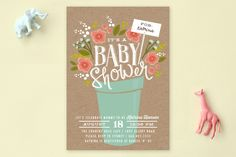 Special Delivery Bouquet Baby Shower Invitations by Karidy Walker at minted.com